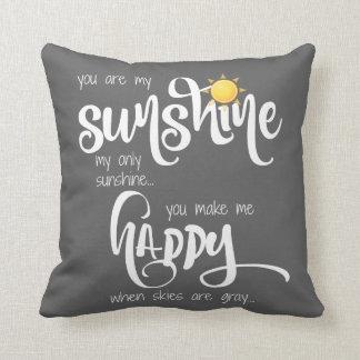 Sie sind mein Sonnenschein; Grau/Weiß, mit Kissen