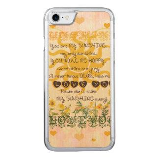 Sie sind mein Sonnenschein-Herz Carved iPhone 8/7 Hülle