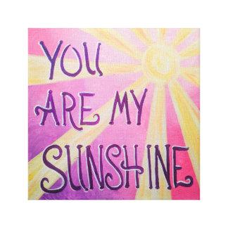 Sie sind mein Sonnenschein Leinwanddruck