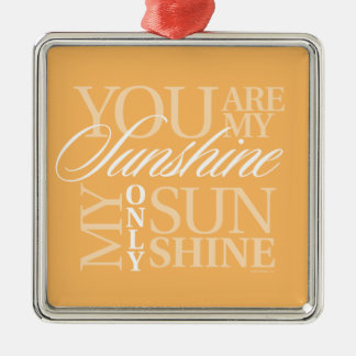 Sie sind mein Sonnenschein Silbernes Ornament