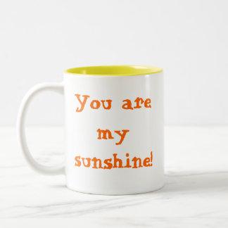 Sie sind mein Sonnenschein! Zweifarbige Tasse