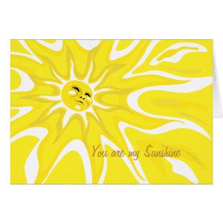 Sie sind meine Sonnenschein-Gruß-Karte Karte