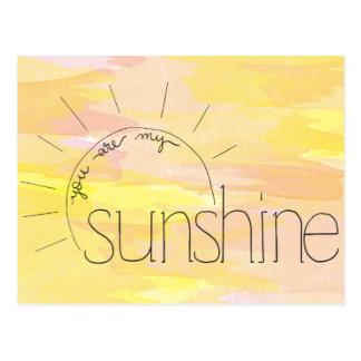 Sie sind meine Sonnenschein-Postkarte Postkarte