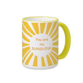 Sie sind meine Sonnenschein-Wecker-Tasse Ringer Tasse