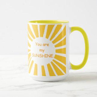Sie sind meine Sonnenschein-Wecker-Tasse Tasse