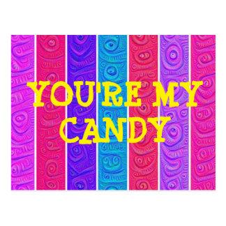 Sie sind meine Süßigkeitspostkarte Postkarte