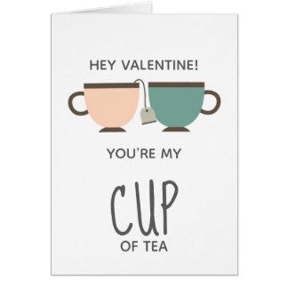 Sie sind meine Tasse Tee Liebe des Valentines Karte