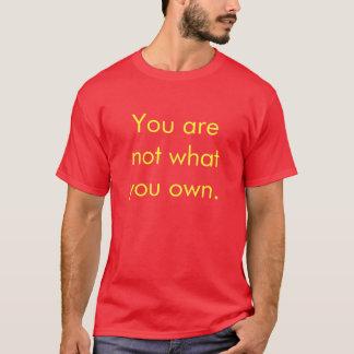 Sie sind nicht, was Sie besitzen T-Shirt