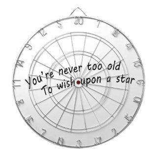 Sie sind nie zu alt, nach einem Stern zu wünschen Dartscheibe