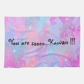 Sie sind so Kawaii Aufschrift-Pastellmagisches Küchentuch