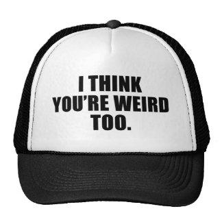 Sie sind sonderbare auch Hüte Netzkappe