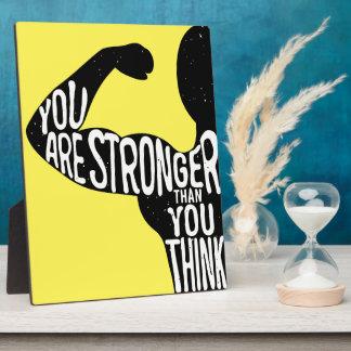 Sie sind stärker, als Sie denken Fotoplatte