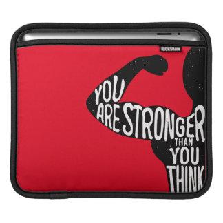 Sie sind stärker, als Sie denken iPad Sleeve