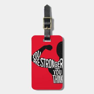 Sie sind stärker, als Sie denken Kofferanhänger