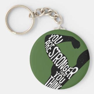 Sie sind stärker, als Sie denken Schlüsselanhänger