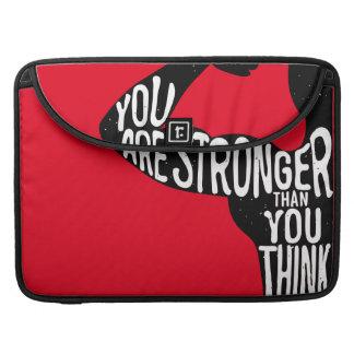 Sie sind stärker, als Sie denken Sleeve Für MacBook Pro