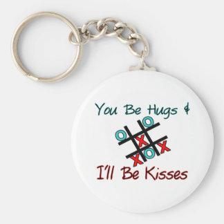 Sie sind Umarmungen, die ich Küsse bin Schlüsselanhänger