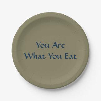 """Sie sind, was Sie essen PapierTeller 7"""""""