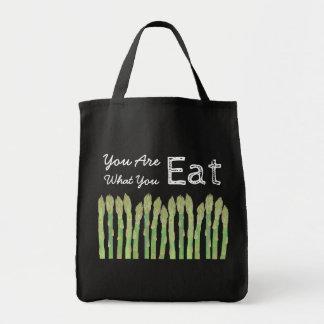 Sie sind, was Sie Spargel-Taschen-Tasche essen Tragetasche