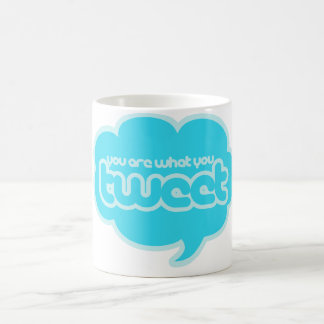 Sie sind, was Sie tweeten Tasse