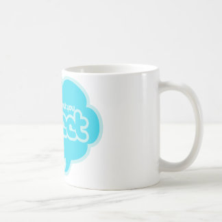 Sie sind was Sie tweeten Kaffeetasse