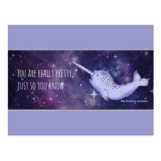 """""""Sie sind wirklich hübsches"""" Narwhal Postkarte"""