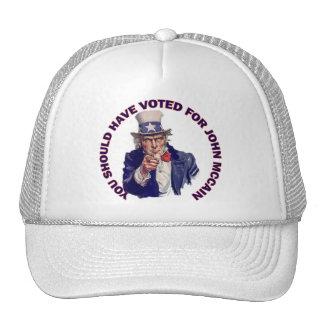 Sie sollten für John McCain gewählt haben Mützen