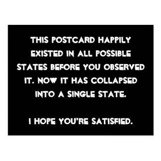 Sie stürzten es ein! Quantums-Physik-Spaß Postkarte