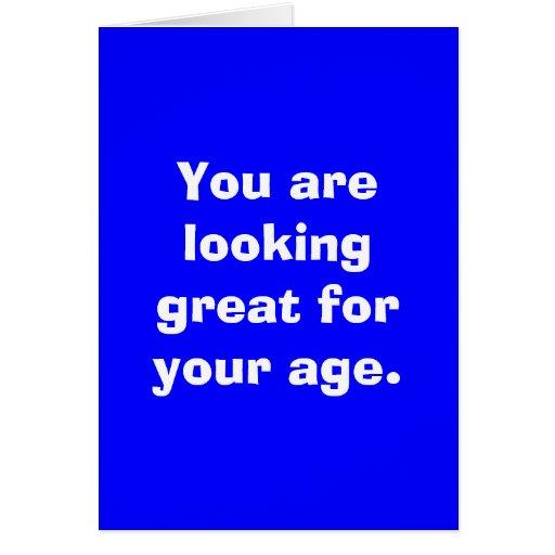Sie suchen nach Ihrem Alter groß Grußkarte