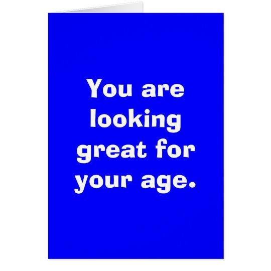 Sie suchen nach Ihrem Alter groß Karte