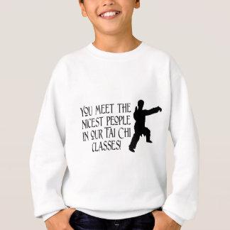 Sie treffen die nettesten Leute Sweatshirt
