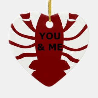 Sie u. ich sind Hummer Keramik Ornament