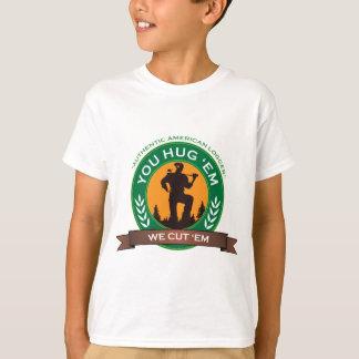 Sie umarmen sie, die wir sie schneiden T-Shirt