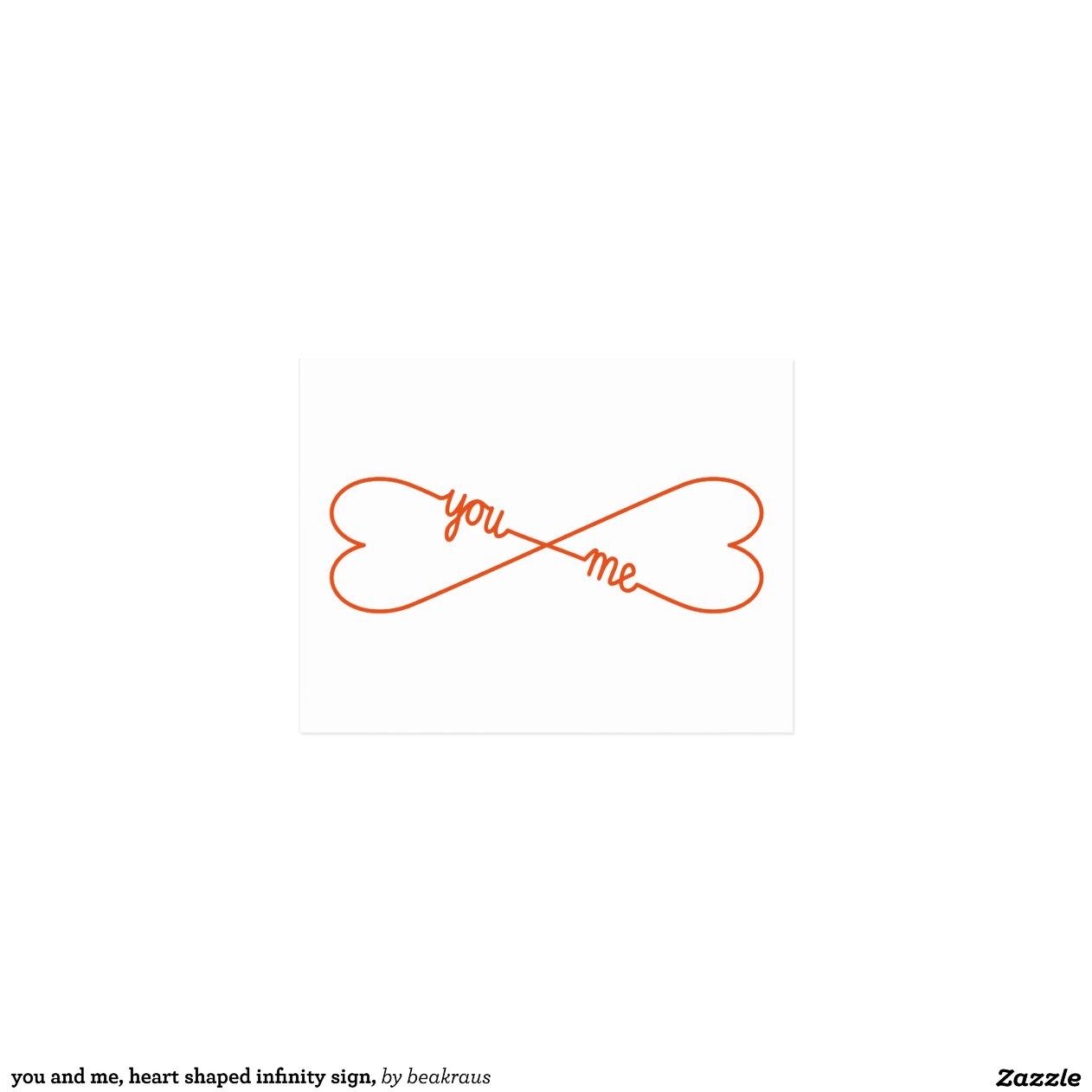 sie und ich herz formten unendlichkeitszeichen postkarten zazzle. Black Bedroom Furniture Sets. Home Design Ideas