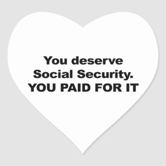 Sie verdienen Sozialversicherung Herz-Aufkleber