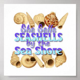 Sie verkauft Seashells-Plakat Poster