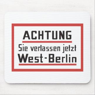 Sie verlassen jetzt Westberlin Deutschland