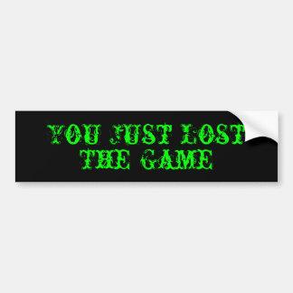 Sie verloren gerade, The Game Autoaufkleber