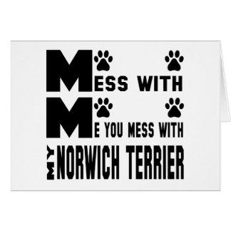 Sie verwirren mit meinem Norwich Terrier Karte