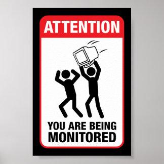 Sie werden - Büro Humor überwacht Poster