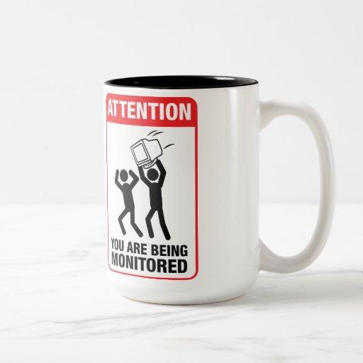 Sie werden - Büro Humor überwacht Tee Tassen