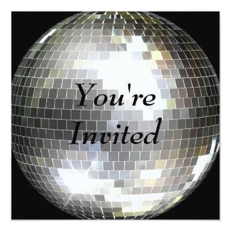 Sie werden - Disco-Ball eingeladen Quadratische 13,3 Cm Einladungskarte