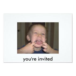 Sie werden ...... eingeladen 12,7 x 17,8 cm einladungskarte