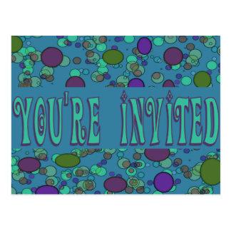 Sie werden eingeladen postkarte
