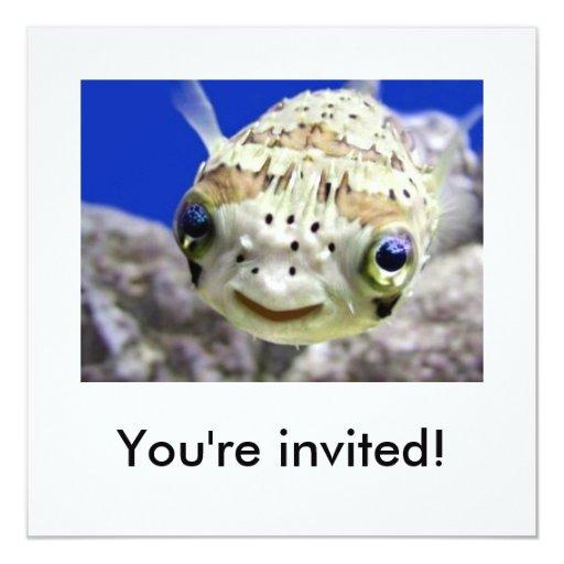 Sie werden eingeladen! quadratische 13,3 cm einladungskarte