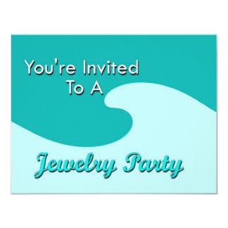Sie werden zu einem Schmuck-Party eingeladen 10,8 X 14 Cm Einladungskarte