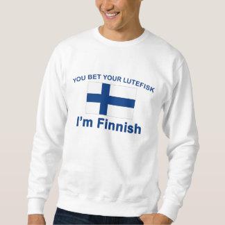 Sie wetten Ihr Lutefisk, das ich finnisch bin Sweatshirt