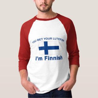 Sie wetten Ihr Lutefisk, das ich finnisch bin T-Shirt