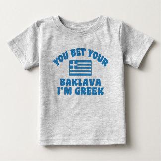 Sie wetten Sie Baklava, das ich griechisch bin Baby T-shirt