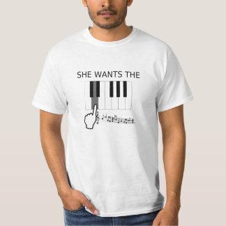 Sie will das D! (Anmerkung) - unglaublich witzig T Hemd